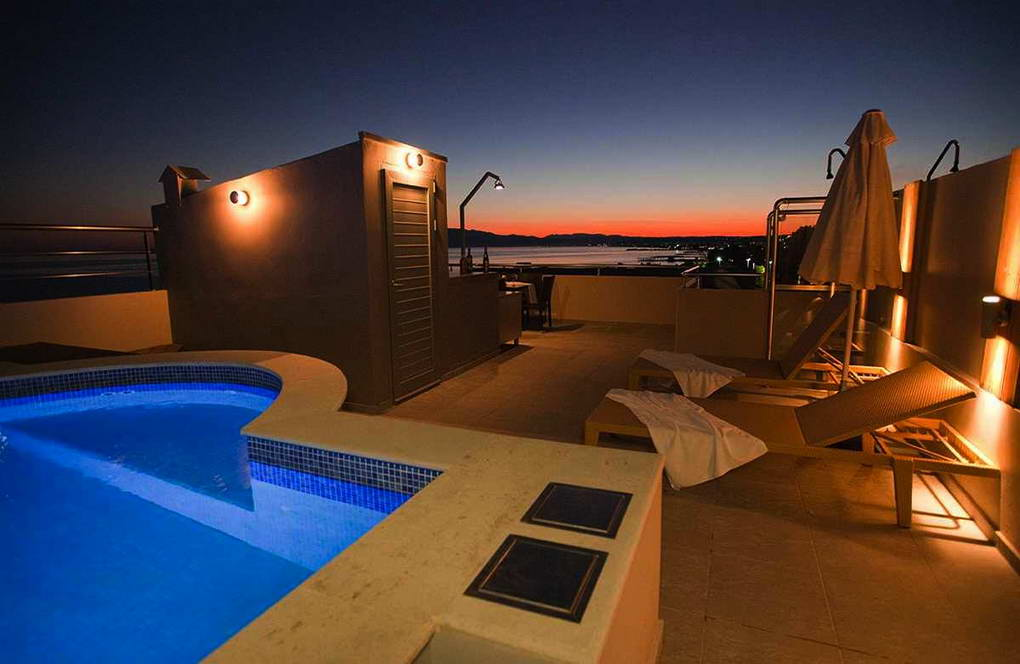 Seafront  Villa with Roof Top Pool at Chania Crete for Sale