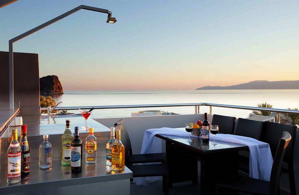 Seafront  Villa with 2 Roof Top Private Pools! in Crete, Property in Greece