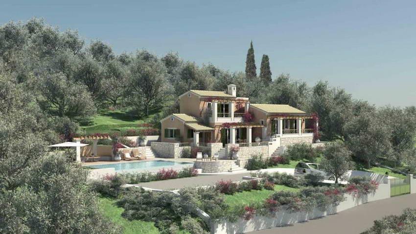 Single House 3 Bedrooms, 130 sqm, Melitieon Corfu