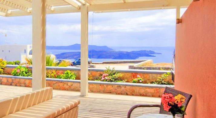 Hotel at Caldera Santorini for Sale, Fira, great sea view, 19 Bedrooms