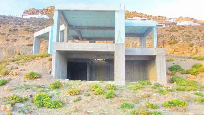 Mykonos Greece sea view Villa unfinished for SALE 01