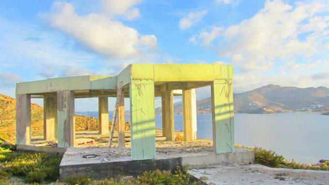 Mykonos Greece sea view Villa unfinished for SALE 06