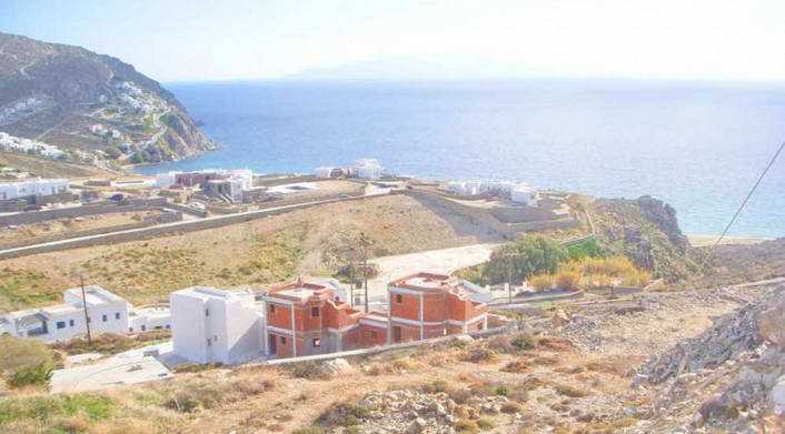 Mykonos Unfinished House with Sea View for Sale 02