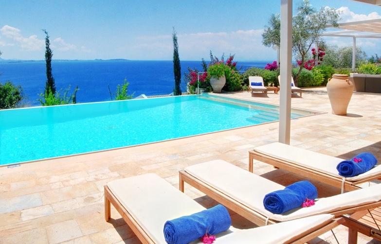 Seafront Villa With Private Beach In Corfu