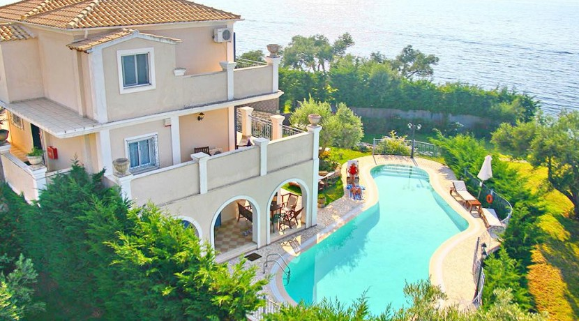 Seafront Villa Kassiopi Corfu, Top Villas, Real Estate Greece, Property in Greece