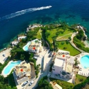 3 Seafront Villas in Corfu Kassiopi