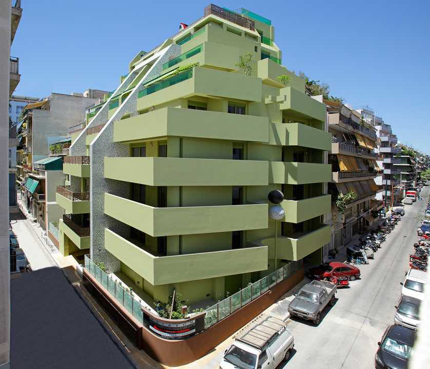 Hotel : New Building in 8 floors and 25 Apartments for long term Rent