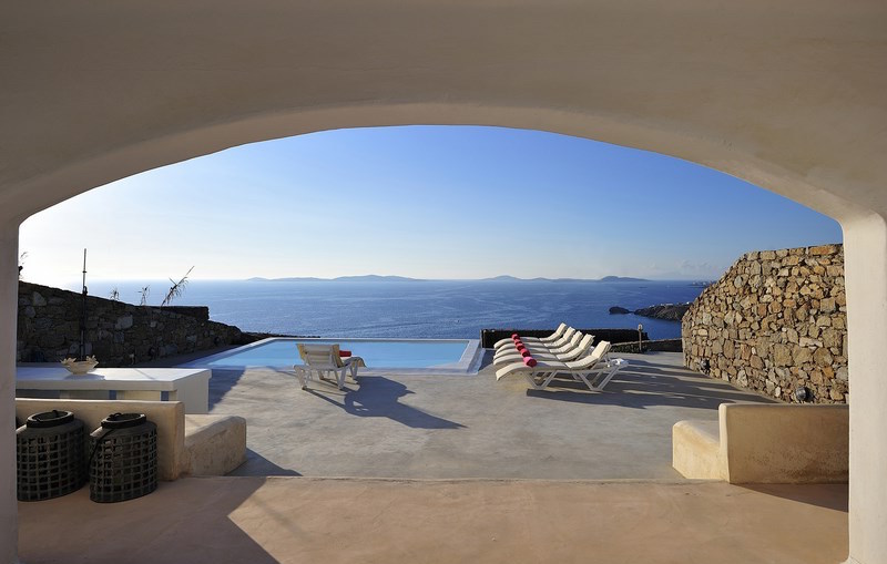 3 Houses For up to 17 Guests, Sea View Villas in Mykonos