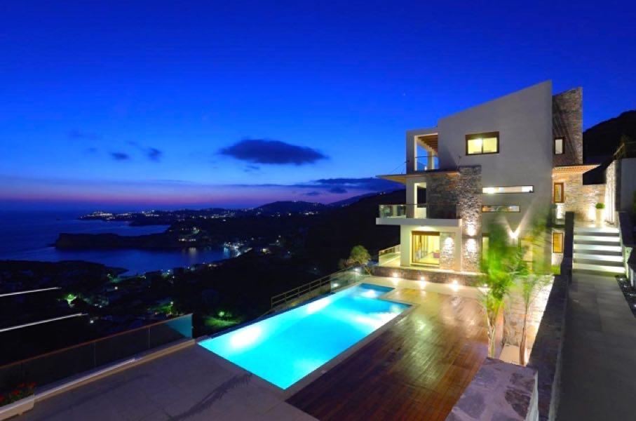 Luxury Pool Villa with sea view for Sale in Crete