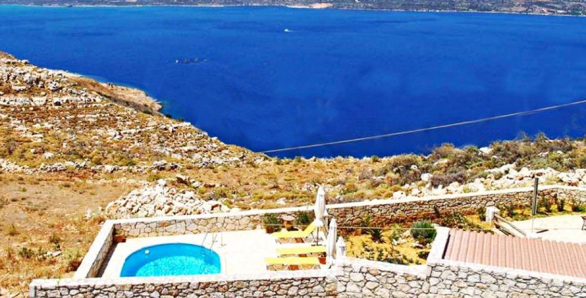 Villa with Pool and Sea View Chania Crete
