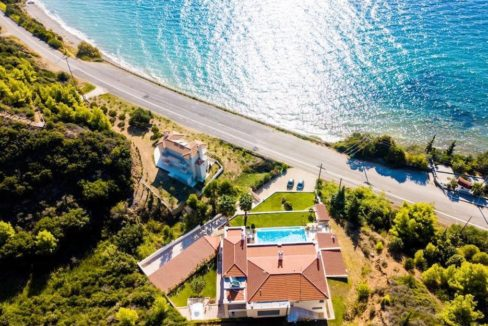 Beautiful beachfront Villa at Halkidiki, Kassandra Halkidiki, Skioni, Halkidiki Properties, Seafront Villa Halkdidiki Greece 3