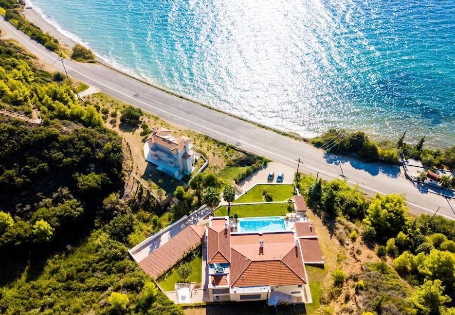 Beautiful beachfront Villa at Halkidiki, Kassandra Halkidiki, Skioni, Halkidiki Properties, Seafront Villa Halkdidiki Greece 1
