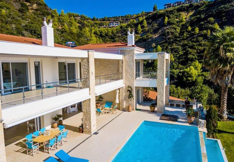 Beautiful beachfront Villa at Halkidiki, Kassandra Halkidiki, Skioni, Halkidiki Properties, Seafront Villa Halkdidiki Greece 7