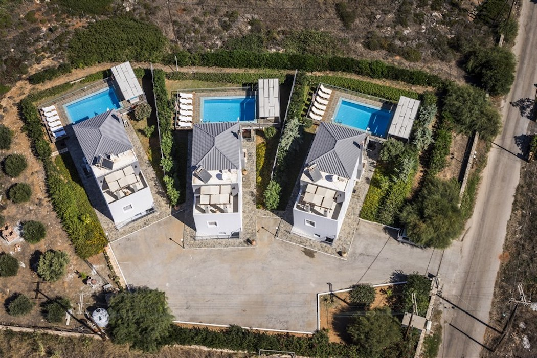 3 Houses with Pool for Sale at  Chania Crete