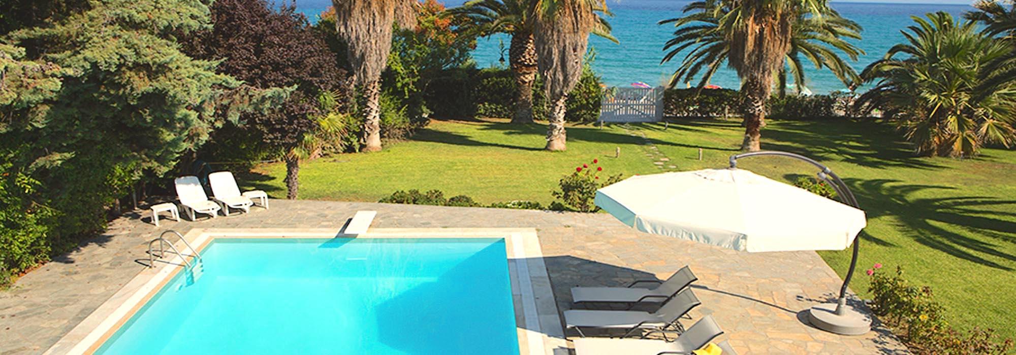 Luxury Seafront Top Villa, at Pefkohori Halkidiki, Price Reduced 1 million