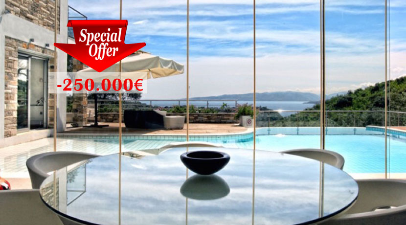 Luxury villa in Corfu, Greece Reduced Price -250.000€