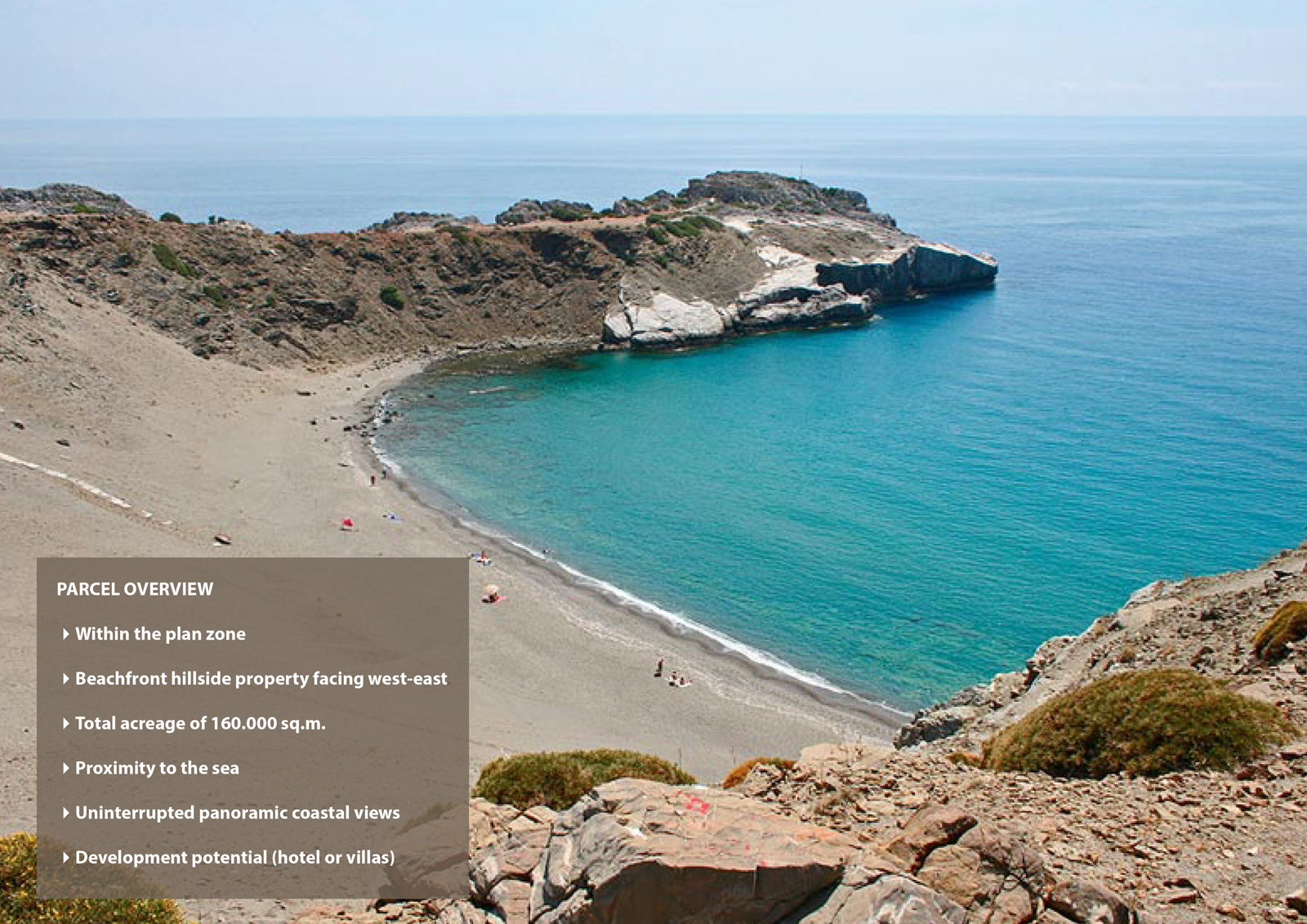 Waterfront Land For Hotel in Crete of 160.000 sq.m
