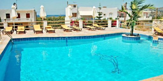 Low Price Hotel with pool at Crete (Agios Nikolaos) – 15 Rooms