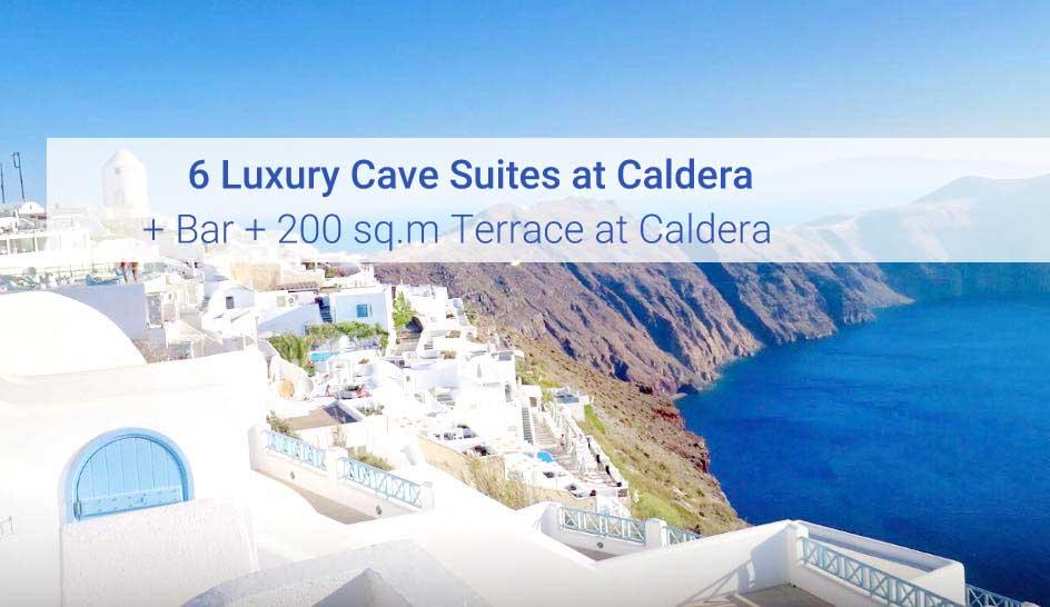 Caldera Hotel at Imerovigli Santorini, 6 Caldera Cave Suites + Bar + Terrace
