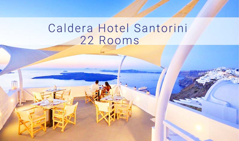 Caldera Hotel Santorini For Sale – 22 Rooms  – Rented to a 3rd party for the next 7 years (400.000€/year)