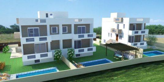 Group of 3 Semi-finished Villas near the Sea at Sounio Attica
