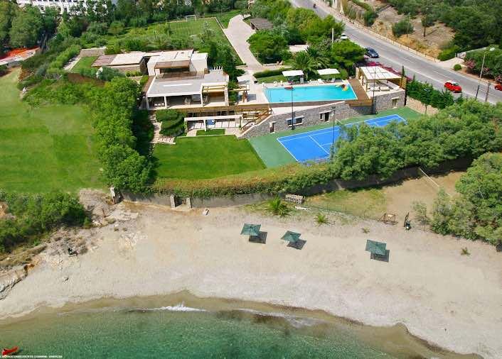 Seafront Villa in Attica with Private Beach