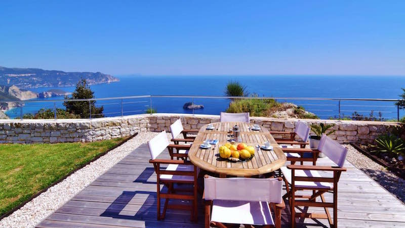 Waterfront villa corfu 3 greek properties for Greece waterfront property for sale