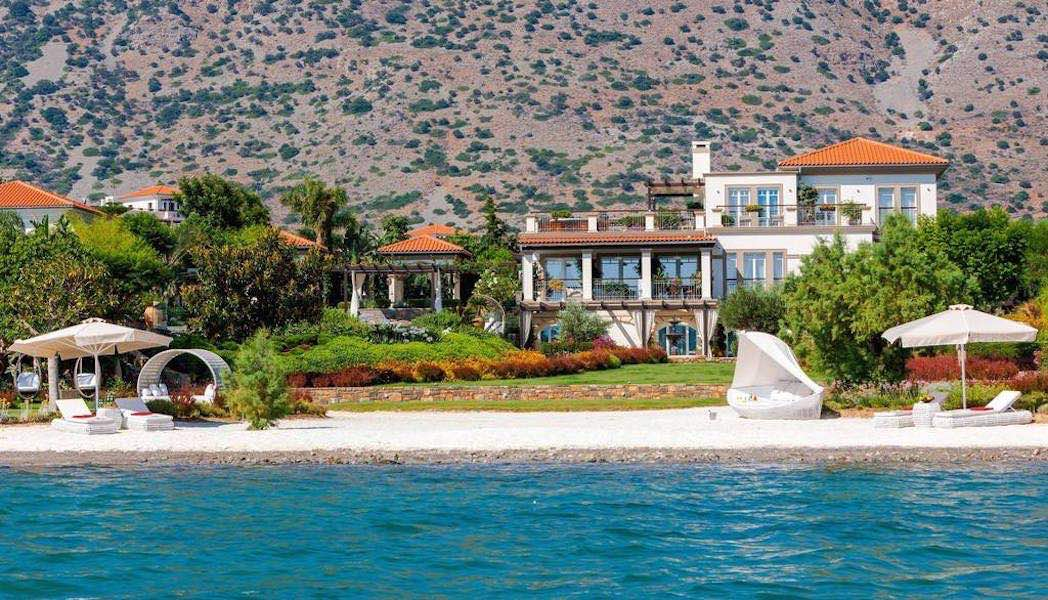Magnificent villa with a private beach, Elounda Crete