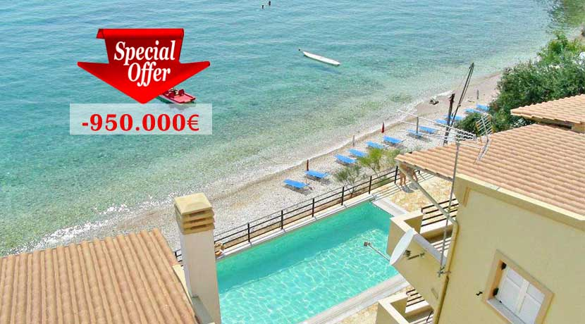4 Seafront Villas at Corfu for Sale, Price Highly Reduced
