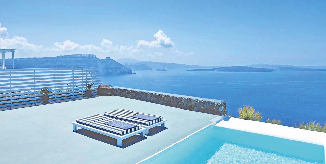 Super Villa at Oia Santorini with 12.800 sq.m Land Plot at Caldera