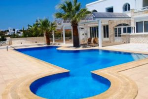 Villa for Sale in Paros with big Land Plot and Sea View, Property overlooking Golden Beach