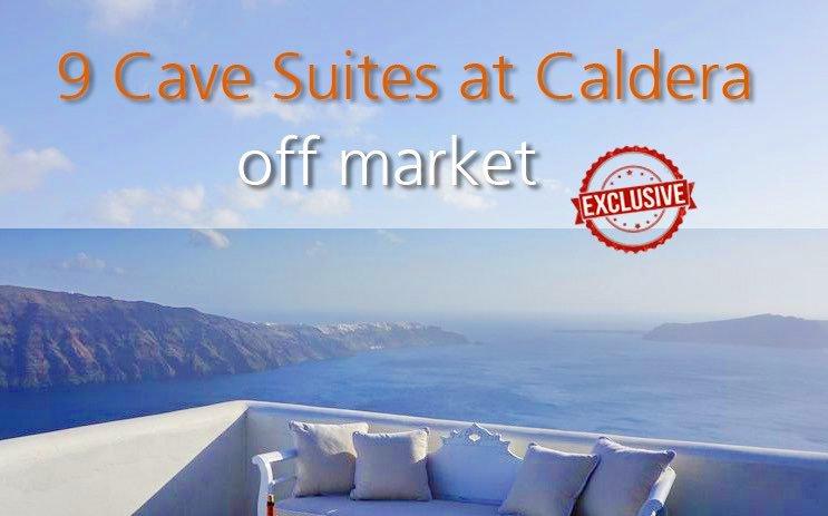 NEW Exclusive: 9 Cave Suites at Caldera Santorini, of total 500 sq.m Ideal Property