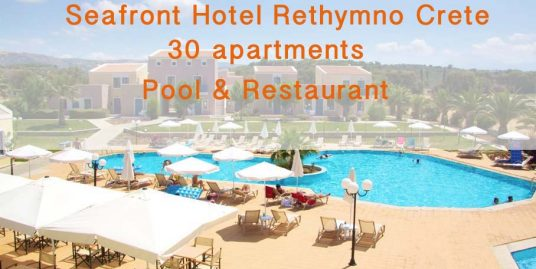 Waterfront Hotel Rethimno Crete with 30 Apartments