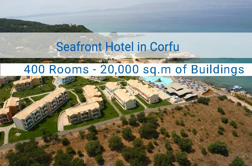 Seafront Hotel for Sale in Corfu with 400 Rooms