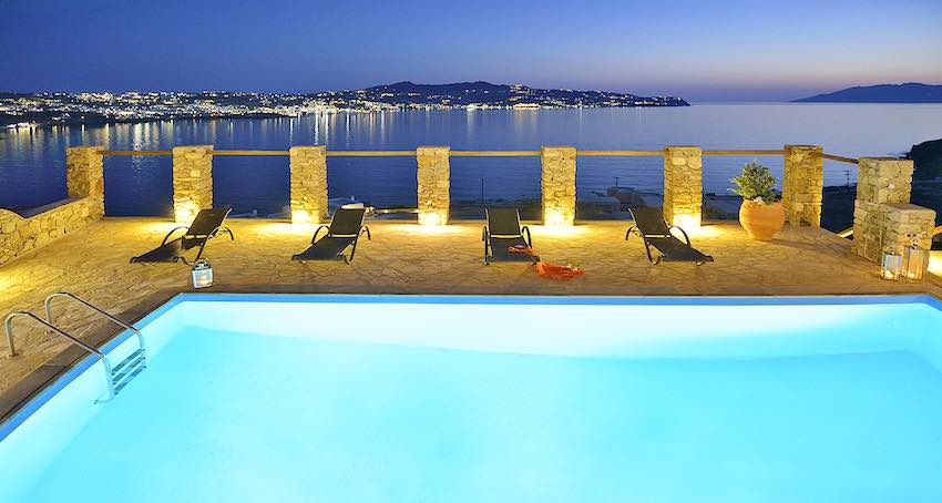 Villa with Pool at Kanalia Mykonos with sea View