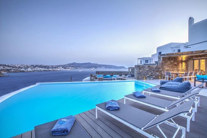 Villa at Mykonos, Kanalia with Pool and Sea Views
