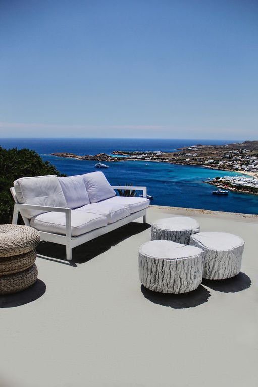 Villa at Psarou Beach near the famous Nammos beach Restaurant, Mykonos
