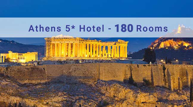 5 Star Luxury Hotel City of Athens at Syntagma with 180 Rooms
