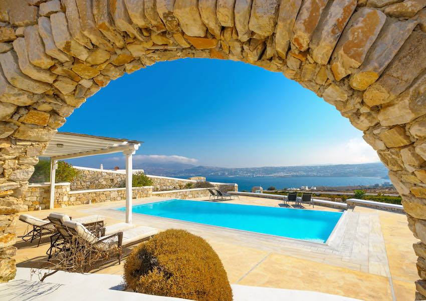 Royal Villa of 6 Bedrooms in Mykonos with amazing Sea Views, Kanalia Area
