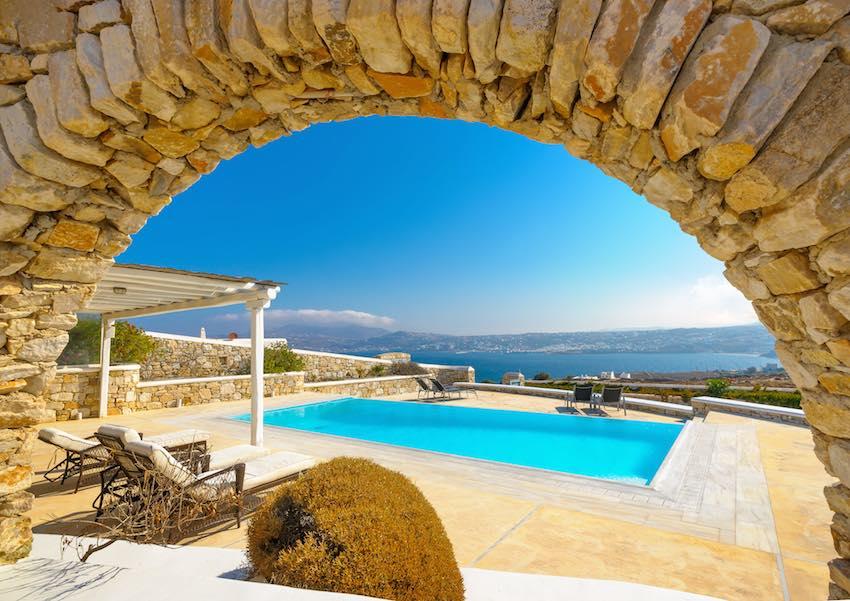 Royal Villa of 6 Bedrooms in Mykonos with amazing Sea Views, Kanalia Area