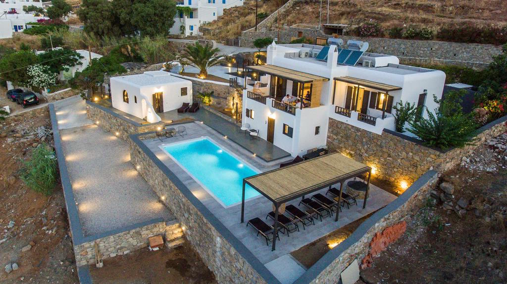 New Built Villa at Agios Ioannis in Mykonos by the sea