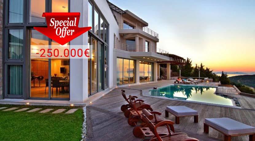 Luxury Villa with Pool and Sea Views Anavissos Attica