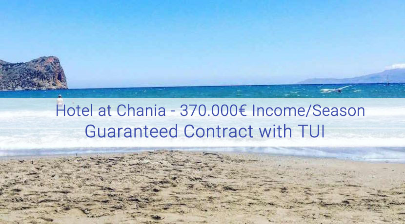 Seafront hotel for sale in Chania Crete, 27 Apartments (370.000€ Operational Income/year)
