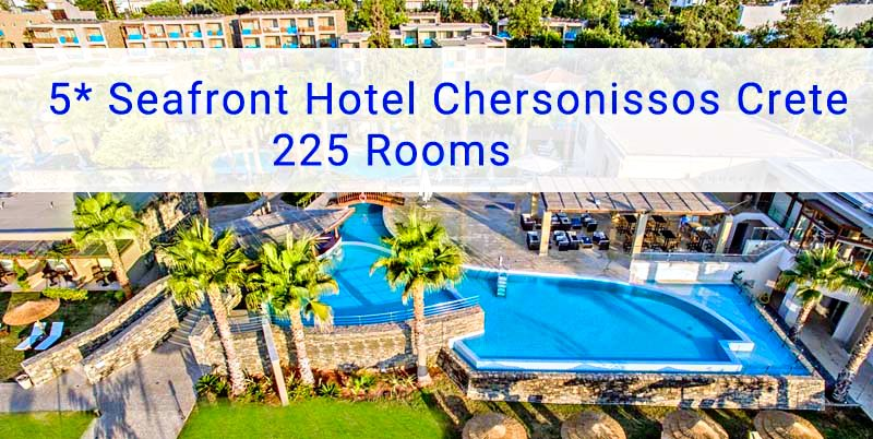 5* Hotel Chersonissos Crete with 225 Rooms
