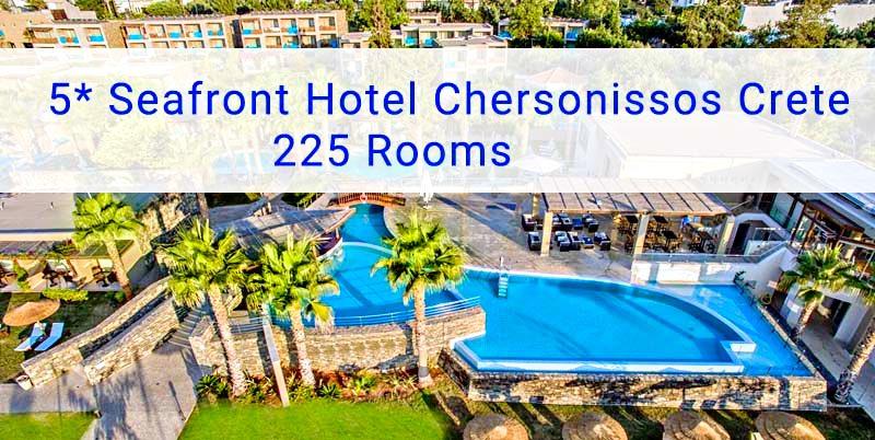 5* Hotel Chersonissos Crete with 225 Rooms