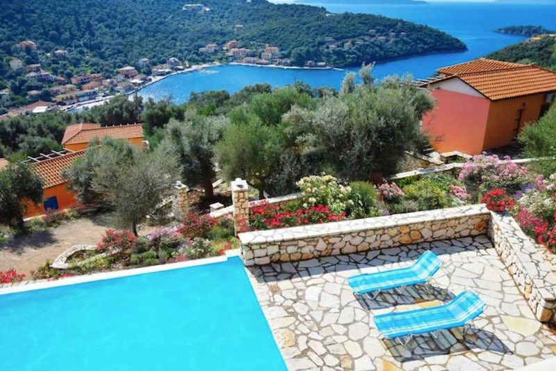 Complex of 4 Villas with Pool and Sea Views at Lefkada, Sivota, Real Estate Greece