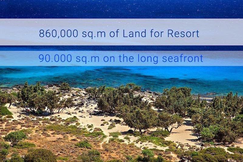 Water front Land at Crete Ideal to Built Hotels and Resorts, 860.000 sq.m