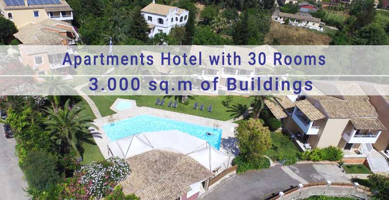 Apartments Hotel in Corfu for Sale, Near Corfu town