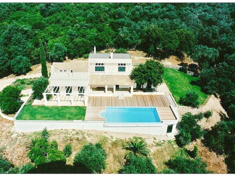 Big Villa with large land Plot of 10.000 sq.m and sea views in Corfu