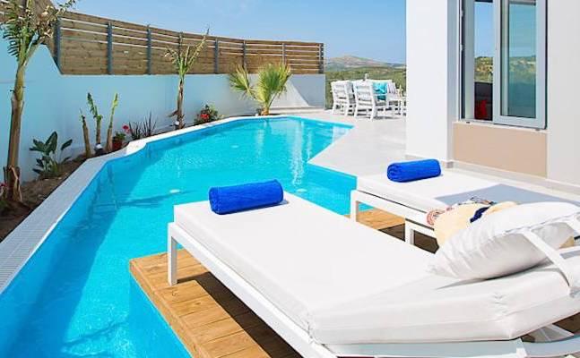 Modern Villa Crete Rethymno, With Swimming Pool And Garden
